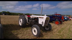 Vintage 1967 Tractor at Agriculture Summer Show Stock Footage