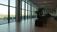 Inside the airport of dubai Stock Footage