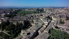 Siena aereal view Stock Footage