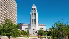 Time-lapse of Los Angeles City Hall  Stock Footage
