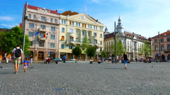 Daily life on the streets of Cluj-Napoca Stock Footage