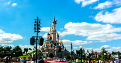 Disneyland Paris Timelapse Stock Footage