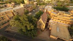 Santa Fe NM Aerial, Loretto Chapel Stock Footage