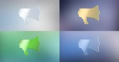 Advertising 3d Icon Stock Footage