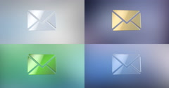 Envelope 3d Icon Stock Footage
