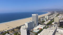 Downtown Santa Monica Skyline, Southern California Stock Footage