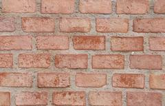 Old brick wall in decoration architecture for the design background. Stock Photos