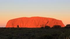 Uluru, Ayers Rock Timelapse Outback Australian Landmark Stock Footage