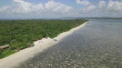 Aerial Drone shot of Hoga island, Indonesia Stock Footage