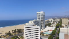 Rising Above Beautiful Santa Monica, California Stock Footage