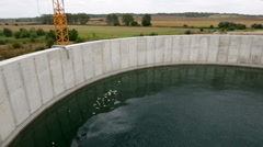 Wastewater treatment plant Water tank Pan Stock Footage