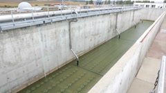 Wastewater treatment plant Water tank Stock Footage