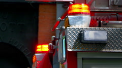 4K Fire Truck Red Light, Emergency Response, Rescue Symbol Stock Footage