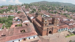 Colonial cathedral in Colombia Stock Footage