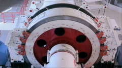 Rotating heavy winch drum Stock Footage