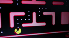 Ms. Pac Man Game Play - Medium view follow lower screen action Stock Footage