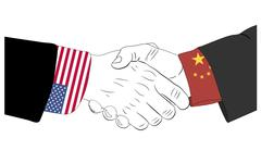 The friendship between USA and China Stock Illustration