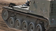 Tank Event 2016 SOEST, the Netherlands, AUGUST 27-28: AMX TRACKED ARMOURED TANK Stock Footage