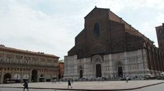 Bologna, Italy Basilica of San Petronio exterior Stock Footage