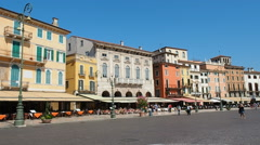 Verona, Italy Piazza Bra main square Stock Footage