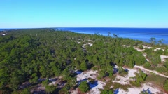 Cape San Blas, aerial view of Florida coastline Stock Footage
