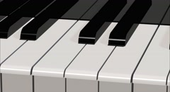 Close up of Piano keys. 4K video Stock Footage