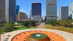 Miami Bayfront Park Stock Footage
