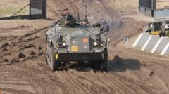 Tank Event 2016 SOEST, the Netherlands, AUGUST 27-28: DAF YP 408  Halftrack Tank Stock Footage