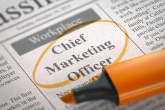 Chief Marketing Officer Job Vacancy. 3D Rendering Stock Illustration