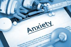 Anxiety Diagnosis. Medical Concept. Composition of Medicaments Stock Illustration