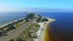 Aerial view of Sanibel Causeway, Florida Stock Footage