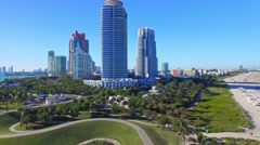 Miami South Pointe aerial view Arkistovideo