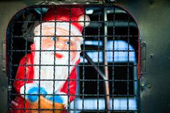 Santa Clous in Jail Stock Photos