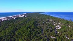 Cape San Blas, going up along Florida coastline Stock Footage