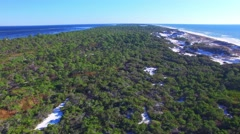 Cape San Blas, panoramic aerial view of Florida coastline Stock Footage