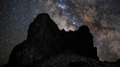 4K Time Lapse Milky Way Rocks Tenerife Canary Islands Spain Stock Footage