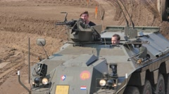 Tank Event 2016 SOEST, the Netherlands, AUGUST 27-28: Military Tank demo Stock Footage