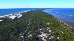 Beautiful aerial view of Cape San Blas Park – Florida Stock Footage