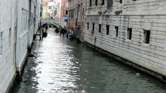 Venice Italy small canals and bridges Stock Footage