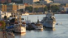 Maritiman floating maritime musem, Gothenburg Stock Footage