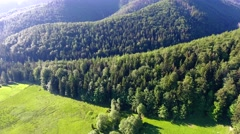 Green montains valley aerial view Stock Footage