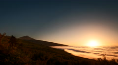 4K Time Lapse Sunset Clouds Teide Tenerife Stock Footage