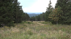 4k Sösetal upcoming thunderstorm heavenly clouds tilt-up meadow Harz mountains Stock Footage