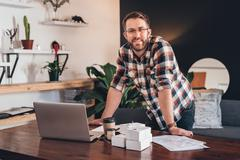 Working from the comfort of home Stock Photos