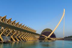 VALENCIA, SPAIN - JULY 21, 2016: Prince Philip Science Museum and Agora of Ci Stock Photos