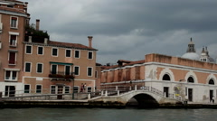 Venice view from water taxi Italy Stock Footage