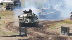 Tank Event 2016 SOEST, the Netherlands, AUGUST 27-28: JOZEF STALIN III tank demo Stock Footage