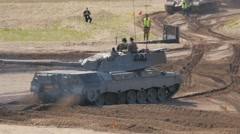 Tank Event 2016 SOEST, the Netherlands, AUGUST 27-28: LEOPARD IV tank from WO II Stock Footage
