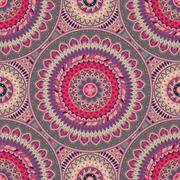 Ornate floral seamless texture, endless pattern with vintage mandala elements Stock Illustration