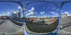 360Vr Video. South Station in Kiev, Top View. Stock Footage